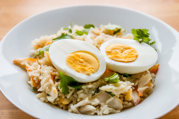 Kedgeree au riz pilaf