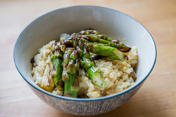 Risotto de quinoa aux asperges