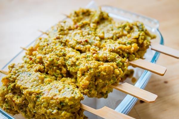 Brochettes de poulet Vindaloo